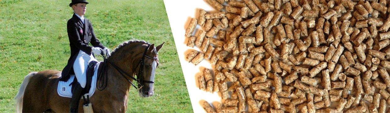 Loppefrøskaller presset i piller - til kræsne heste